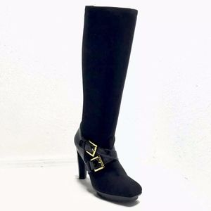 Michael Kors Knee High Platform Boots Stretch Heel